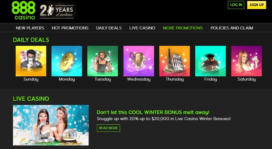 More 888casino Promotions