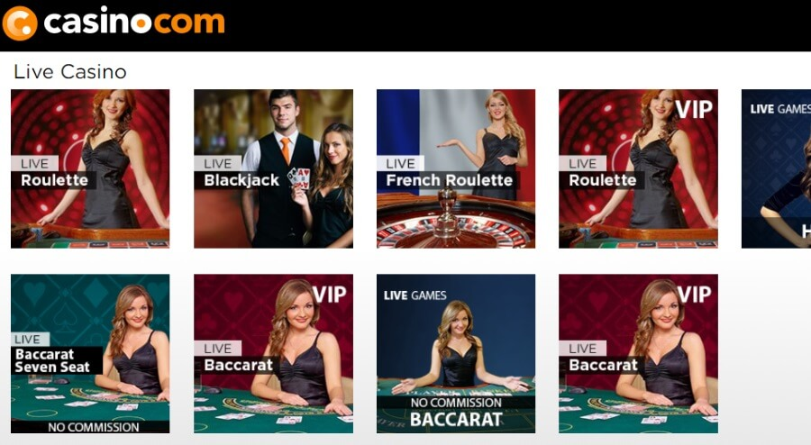 A Huge Range of Live Casino Games at casino.com