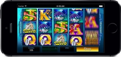 You can play slots casino games at your mobile device