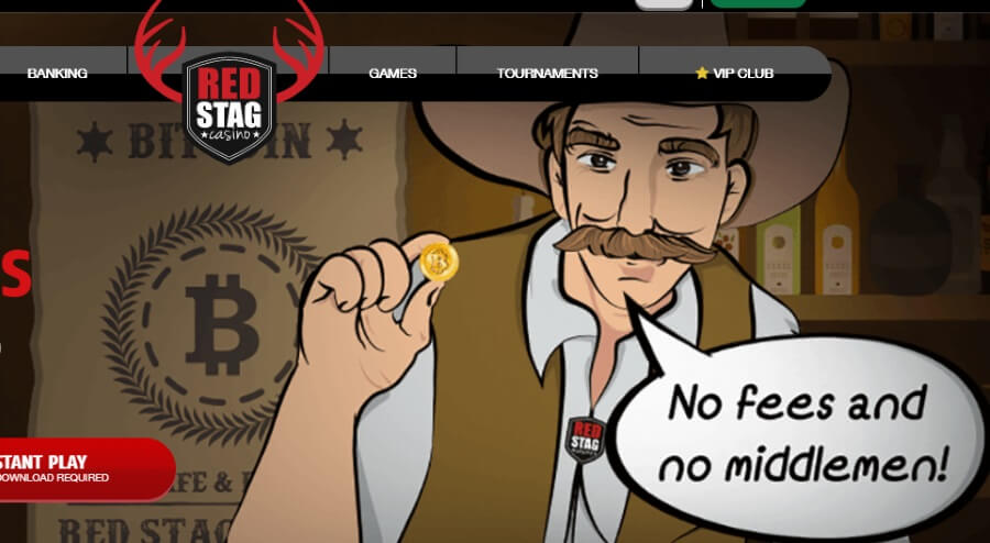 Use Bitcoins at Red Stag Casino