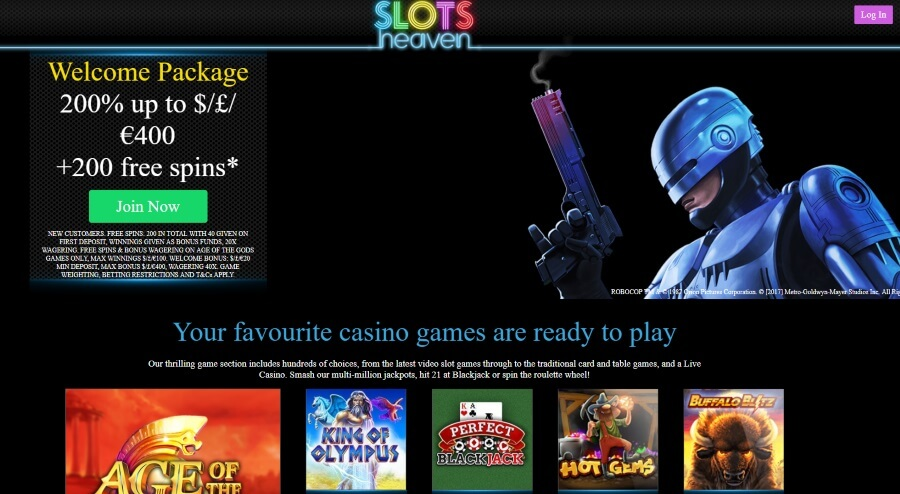 Welcome to Slots Heaven Casino