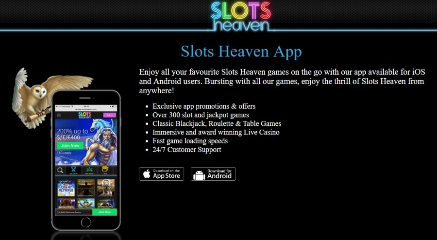 All Slots Heaven Casino Games on Your Mobile